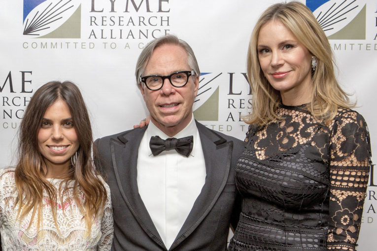 Ally Hilfiger with Tommy and Dee Hilfiger, Lyme Research Alliance. Photo: Laura Landau